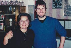 Tom Cruise, junto a la chef ejecutiva del restaurante