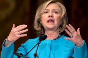 Hillary Clinton, durante su discurso en la Universidad de Miami