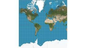 El tradicional mapa de Mercator muestra a Groenlandia tan grande como África.