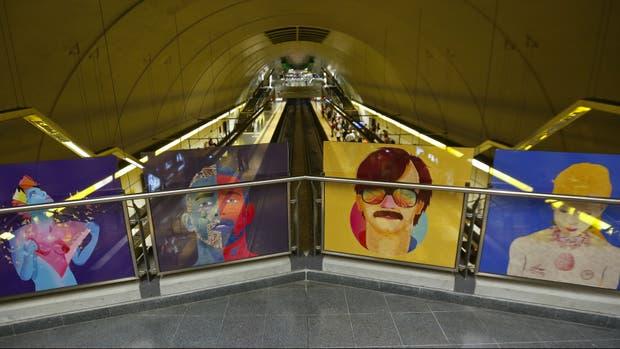 Arte en la estación Santa Fe - Jáuregui