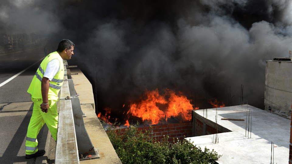 Incendio en la Villa 31 de Retiro