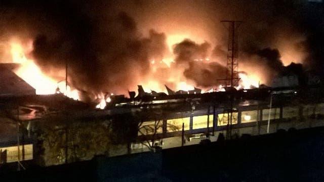 Incendio en una feria de Constitución