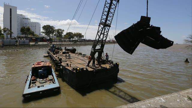El barco que sacaron de Dársena Norte