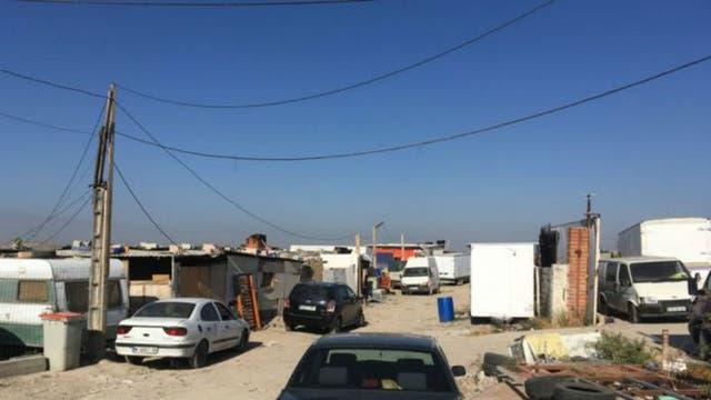 Parte del campamento donde tuvieron lugar varios derribos