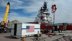 En Comodoro Rivadavia reacondicionan el buque noruego Sophie Sim, para un posible rescate del submarino ARA San Juan
