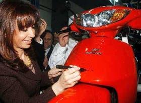 Cristina Kirchner, en su reciente visita a San Juan