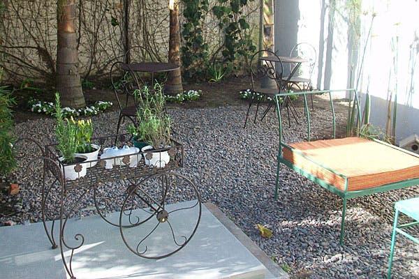 También hay un patio muy lindo para probar tu teanner afuera. Foto: Gentileza Süss
