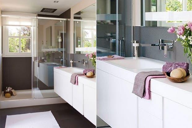 Las flores son una gran elección para darle vida a un baño. Buscá unas que combinen con el color de las toallas y el resto de los accesorios.  /Deavita.fr