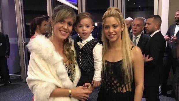 Shakira en la boda de Lionel Messi y Antonela Roccuzzo