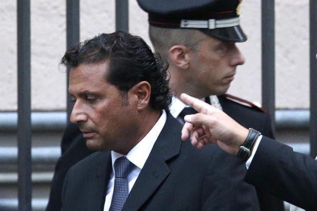 El ex comandante del Costa Concordia, Francesco Schettino.