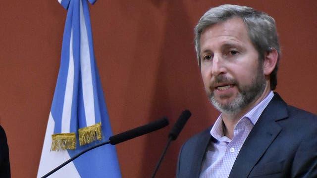 Rogelio Frigerio dio ayer una conferencia de prensa junto Marcos Peña; hoy cargó contra Cristina Kirchner en declaraciones radiales