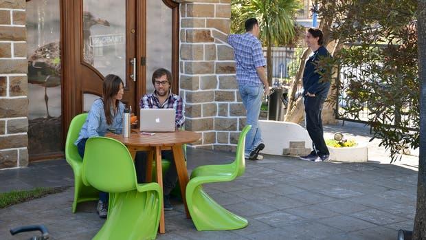 una forma distendida de trabajar al aire libre