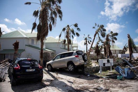 Así quedó el hotel Orient Bay en la isla de Saint Martin tras el paso del huracán. Foto: AFP