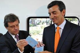 Randazzo junto al intendente de Mar del Plata, Gustavo Pulti