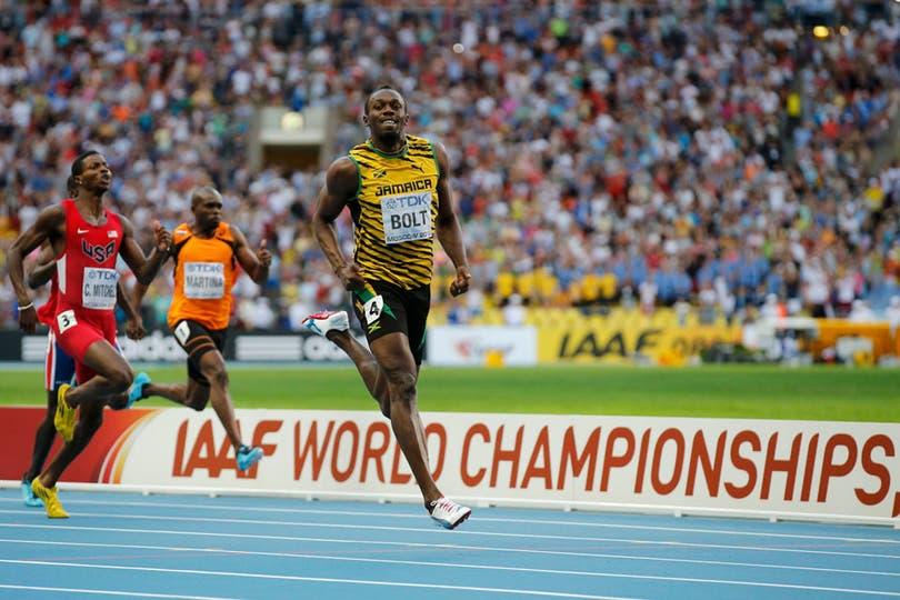 Usain Bolt también voló en los 200 metros