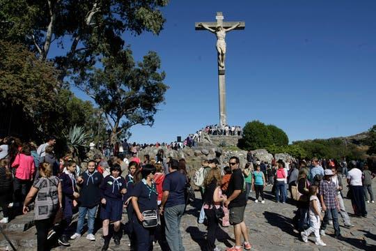 Tandil también recibió a turistas del todo el país. Foto: LA NACION / Mauro V. Rizzi