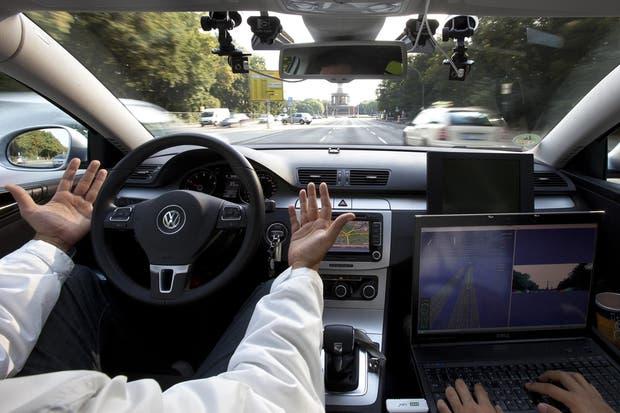 Una prueba de un vehículo autónomo en Berlín, Alemania