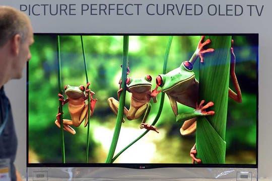 Los televisores OLED 4K De LG. Foto: AP