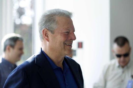 El ex-vicepresidente Al Gore, presente en el anuncio de Apple. Foto: Reuters