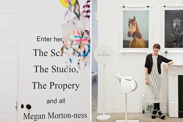 Megan Morton en su sector, que incluye un estudio para hacer producciones fotográficas propias y ajenas, un inmenso depósito con toda la utilería necesaria para realizarlas y la escuela más concurrida del barrio.  /Daniel Karp