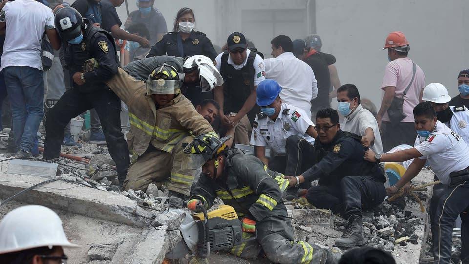32 años después, otro feroz terremoto azotó México con una intensidad de 7,1 en la escala de Richter. Foto: AFP