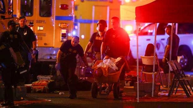 Escenas dramáticas se vivieron en la zona Strip, de las Vegas, tras el tiroteo