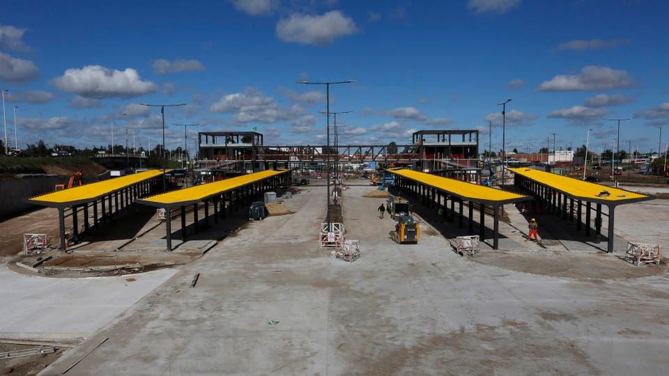 Será el primer ramal de este tipo que funcione íntegramente en territorio bonaerense y sobre una ruta nacional. Foto: LA NACION / Ricardo Pristupluk
