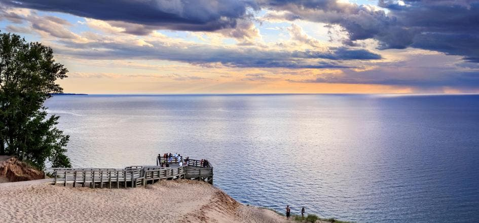 Lake Michigan Overlook, Sleeping Bear Dunes, Michigan. Foto: National Geographic