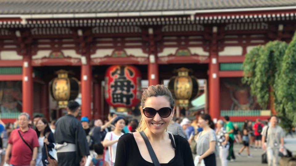 Carolina Aguirre, escritora y guionista, en Japón