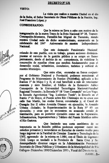 On July 9, 2010, José López is declared