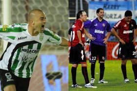 El grito de Silva frente a Huracán, y el desconsuelo de Newell´s luego de la derrota con Arsenal; el miércoles puede definirse el torneo
