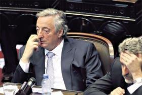 Kirchner y Rossi en la Cámara baja, tras la batalla por el control de las comisiones. El revés fue interpretado como anticipo de un nuevo ciclo político