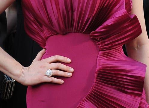 Vera Farmiga y un vestido muy llamativo. Foto: AFP