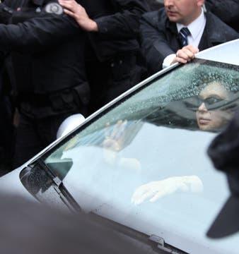 La Presidenta de la Nación, durante el traslado de los restos de su esposo. Foto: LA NACION / Martin Turnes