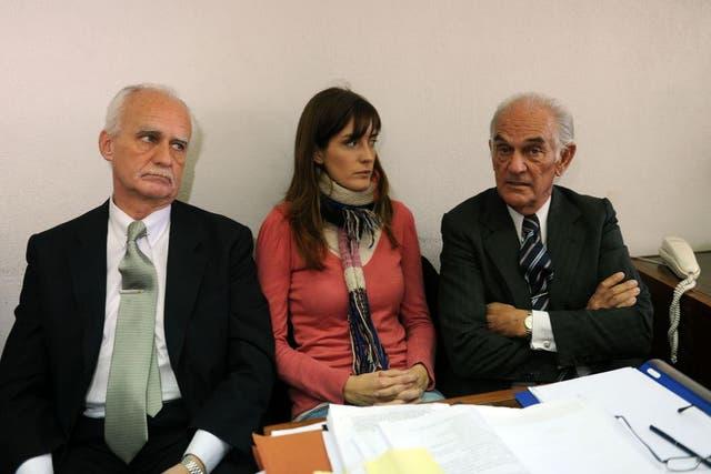 Lucila Frend y sus abogados
