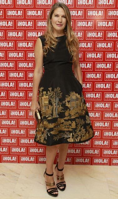 Ana Soriano optó por un vestido de Oscar de la Renta. Foto: /Fabián Marelli