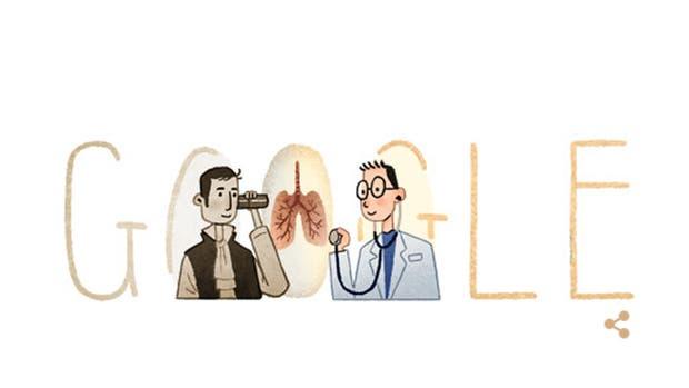 Google honra al inventor del estetoscopio en el día de su nacimiento