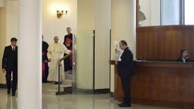 El papa Francisco, en la recepción de Santa Marta