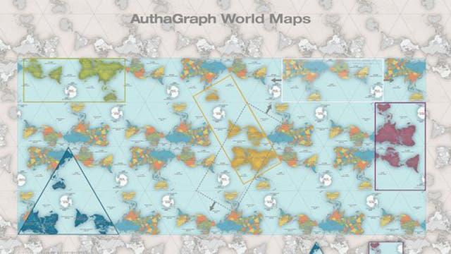 """""""AuthaGraph representa fielmente los océanos y los continentes incluyendo la Antártida y provee una perspectiva precisa y avanzada de nuestro planeta"""", afirma la organización que premió a Narukawa."""