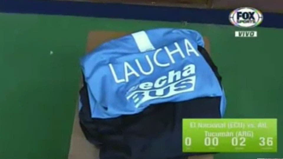 La camiseta de Lucchetti en el vestuario Captura de TV