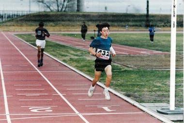 Mastromarino se dedica al atletismo desde los 13 años.