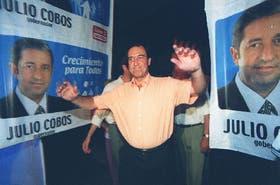 Iglesias, cuando todavía hacía campaña con su ahora enemigo interno, el gobernador mendocino Julio Cobos