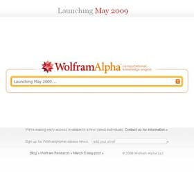 Captura de imagen del cuadro de búsqueda de Wolfram Alpha