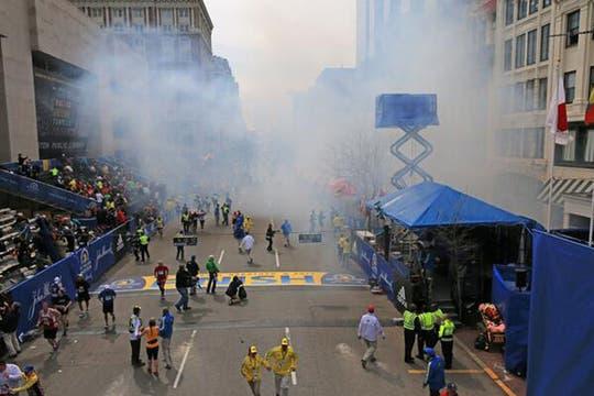 Las explosiones se produjeron en la línea de llegada. Foto: @huffingtonpost