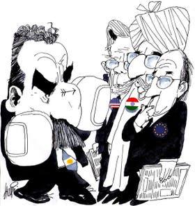 Guillermo Moreno y los embajadores