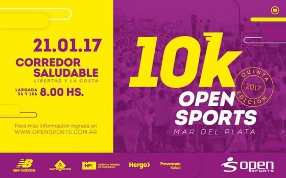 10k Open Sports, en Mar del Plata. Foto: LA NACION