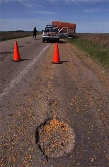 Los accidentes son comunes en este camino