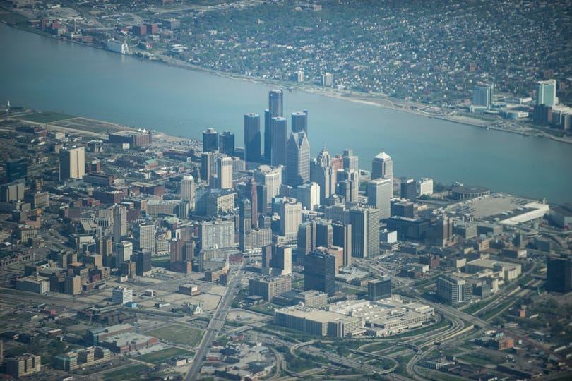 Las fotos de la ciudad de Detroit. Foto: AFP