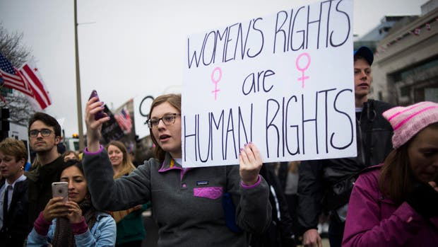 """""""Los derechos de las mujeres son derechos humanos"""", una de las consignas de la jornada"""