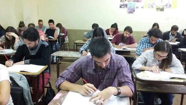 Alumnos de Bahía Blanca, en plena prueba